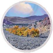 Autumn Landscape In Northern Nevada. Round Beach Towel