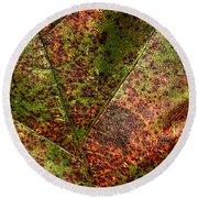 Autumn Leaf Detail Round Beach Towel