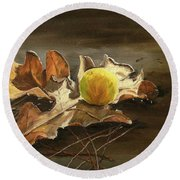 Autumn Leaves 2 Round Beach Towel