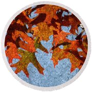 Autumn Leaves 20 Round Beach Towel