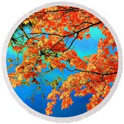 Autumn Leaves 8 Round Beach Towel