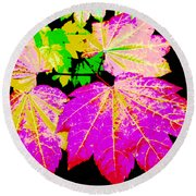 Autumn Leaves Holiday Style Round Beach Towel