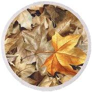 Autumn Leaves Series 2 Round Beach Towel