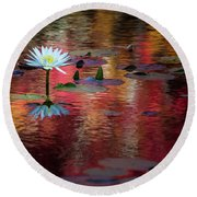 Autumn Lily Round Beach Towel