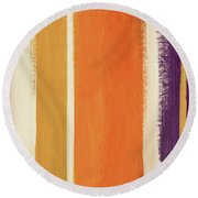 Autumn Lines- Art By Linda Woods Round Beach Towel