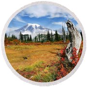 Autumn Majesty Round Beach Towel
