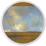 Autumn Marsh Round Beach Towel