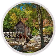 Autumn Mill 2 Round Beach Towel