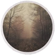 Autumn Mists Round Beach Towel