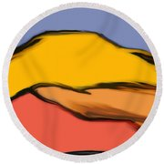 Autumn Mosaic  Round Beach Towel