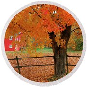 Autumn Near New Germany, Nova Scotia Round Beach Towel