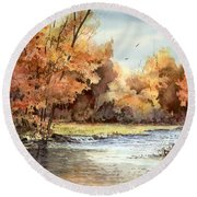 Autumn On The Buffalo Round Beach Towel