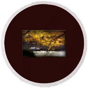 Autumn On The Cove Round Beach Towel