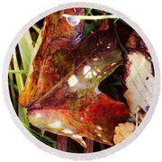 Autumn Palette Round Beach Towel