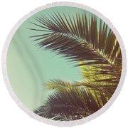 Autumn Palms Round Beach Towel