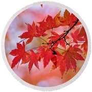 Autumn Pastel Round Beach Towel