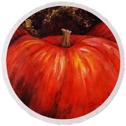 Autumn Pumpkins Round Beach Towel