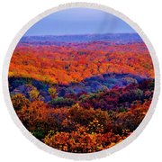 Autumn Rainbow Round Beach Towel