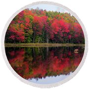 Autumn Reflected Round Beach Towel