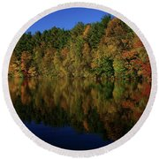 Autumn Reflection Of Colors Round Beach Towel