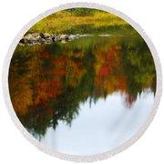 Autumn Reflection Round Beach Towel