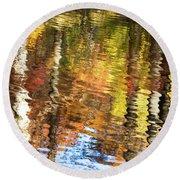 Autumn Reflections-3 Round Beach Towel