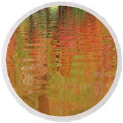 Autumn Reflections Abstract Round Beach Towel