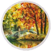 Autumn Rest   Round Beach Towel