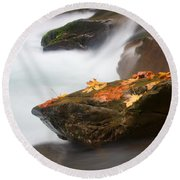 Autumn Resting Place Round Beach Towel