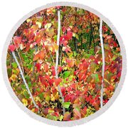 Autumn Sanctuary Round Beach Towel