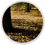 Autumn Scatterlings Round Beach Towel