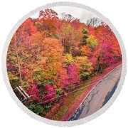 Autumn Season And Color Changing Leaves Season Round Beach Towel