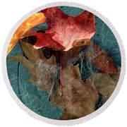Autumn Seined Round Beach Towel