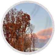 Autumn Sky Round Beach Towel