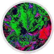 Autumn Splash Round Beach Towel