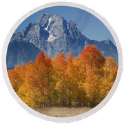 Autumn Splendor In Grand Teton Round Beach Towel