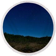 Autumn Stars Round Beach Towel