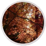 Autumn Sunshine Poster Round Beach Towel