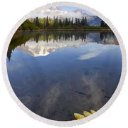 Autumn Suspended Round Beach Towel by Mike  Dawson