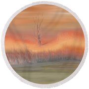 Autumn Swamp Round Beach Towel