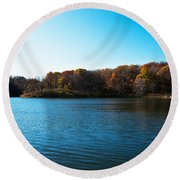 Autumn The In Loess Hills Round Beach Towel