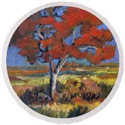 Autumn Tree Round Beach Towel