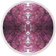 Autumn Tree Leaves Fractal B3 Mid Round Beach Towel