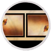 Autumn Up And Down Round Beach Towel