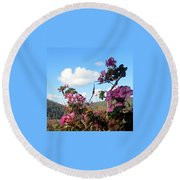 Autumn View 2 Round Beach Towel