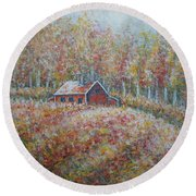 Autumn Whisper. Round Beach Towel