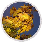 Autumn Winds Round Beach Towel