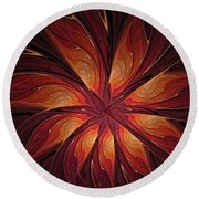 Autumnal Glory Round Beach Towel