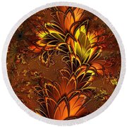 Autumnal Glow Round Beach Towel