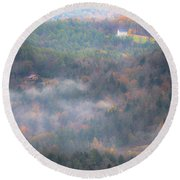 Autumns Fading Color Round Beach Towel